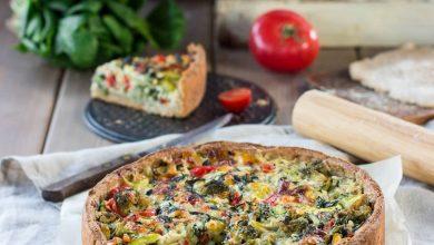 Аюрведа: Открытый пирог с овощами и сыром