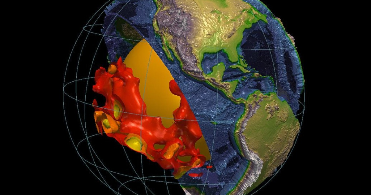 Земную мантию пронзают таинственные структуры размером с континент